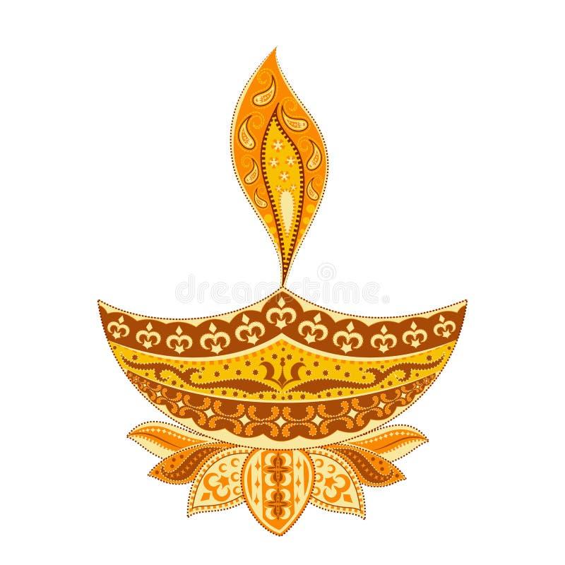 Diya Diwali διανυσματική απεικόνιση