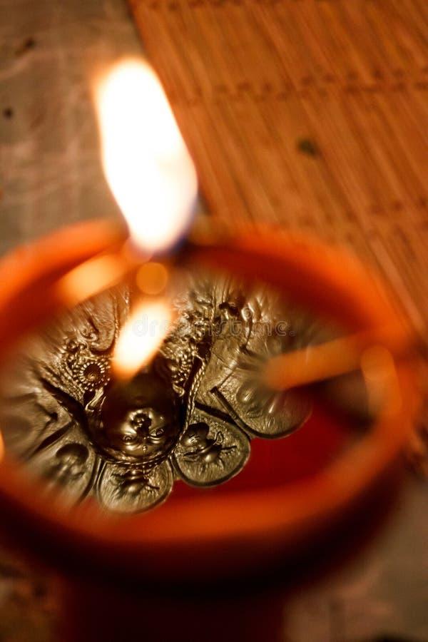 Diya, Diwali, lampada a olio immagini stock libere da diritti