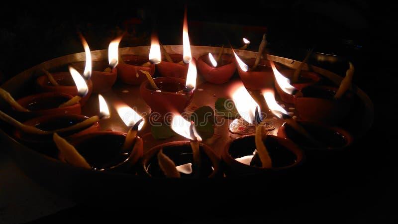 Diya' s-Flammen stockfoto