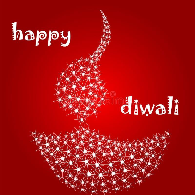Diya van Diwali vector illustratie