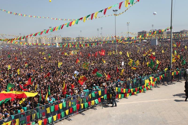 Newroz en Diyarbakir, Turquía. imagen de archivo libre de regalías
