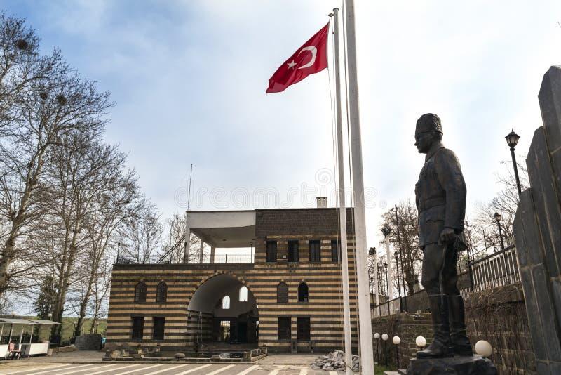 DIYARBAKIR, TURQUÍA - 17 DE MARZO DE 2019: Vista del 'Gazi Pasa Hani ', la central de Diyarbakir imagen de archivo libre de regalías