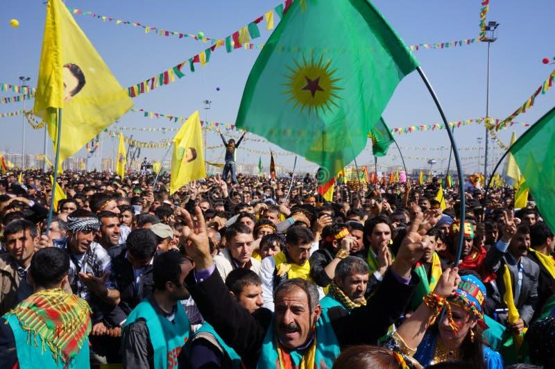 Newroz à Diyarbakir, Turquie. photographie stock
