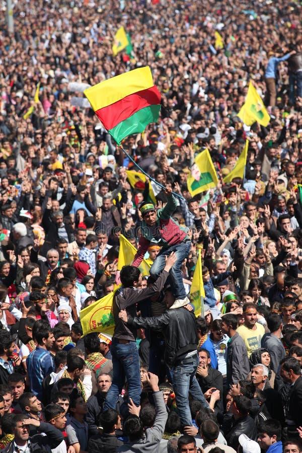 Newroz à Diyarbakir, Turquie. photos stock
