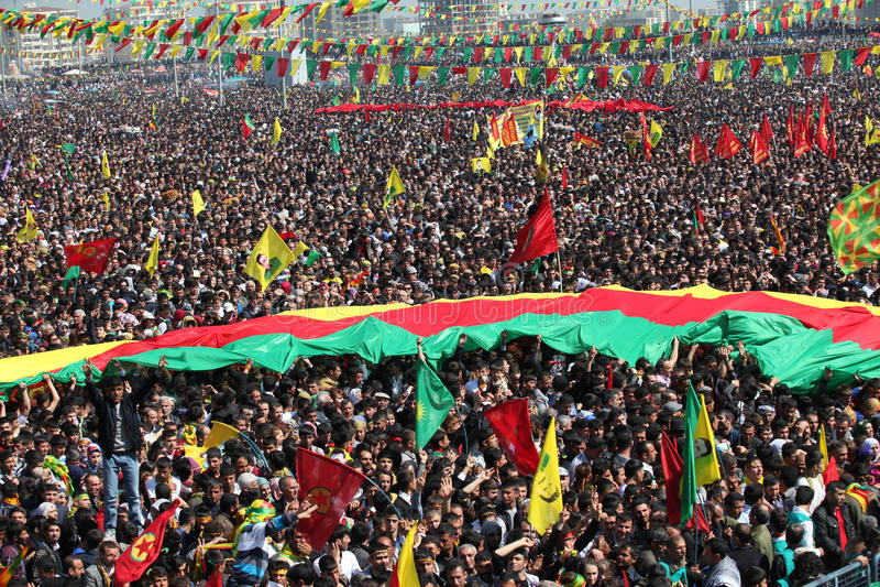 Newroz à Diyarbakir, Turquie. images libres de droits
