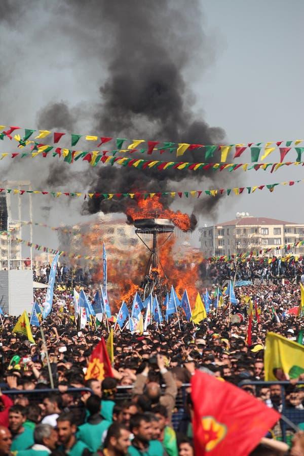 Newroz à Diyarbakir, Turquie. photo stock