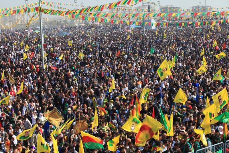 Newroz à Diyarbakir, Turquie. photographie stock libre de droits