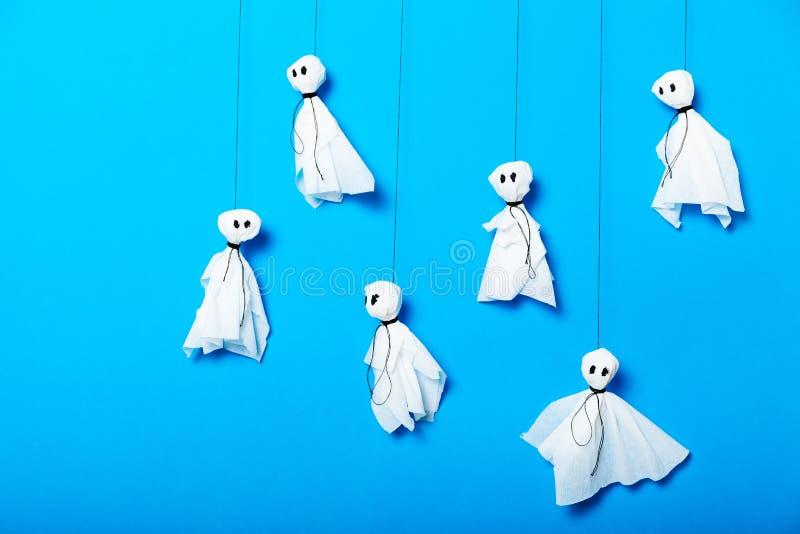 Diydocument de partijinspiratie van Halloween, spoken stock foto