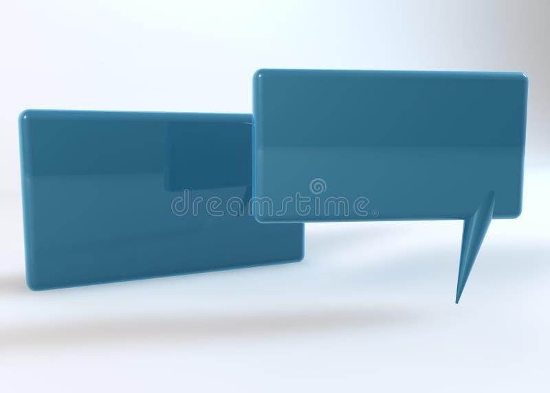 Dizendo a caixa azul no fundo branco ilustração stock