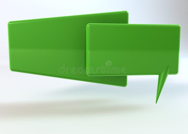 Dizendo a caixa verde no fundo branco ilustração royalty free