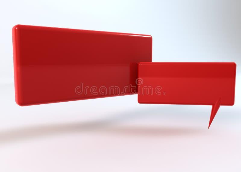 Dizendo a caixa vermelha no fundo branco ilustração do vetor