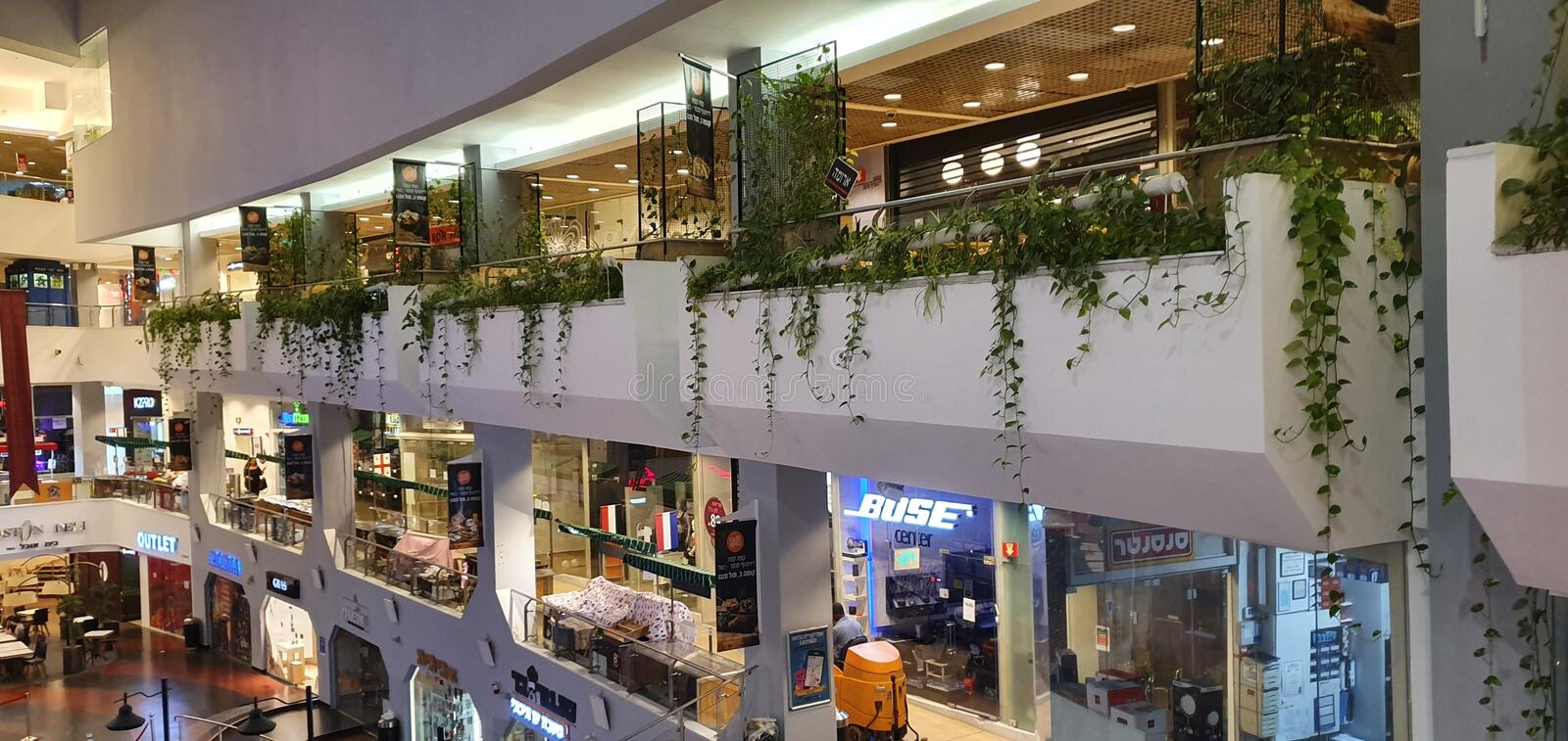 Dizengoff center, shopping mall, in center Tel Aviv, today, hot summer time royalty free stock photos
