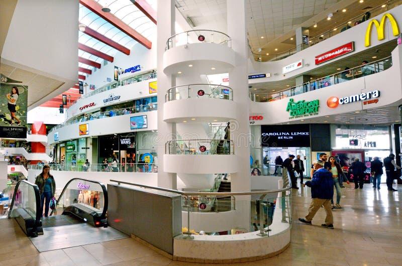 Dizengoff centrum w Tel Aviv, Izrael zdjęcie royalty free