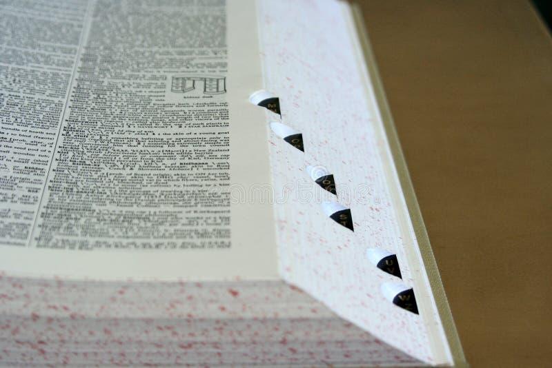 Dizionario fotografie stock