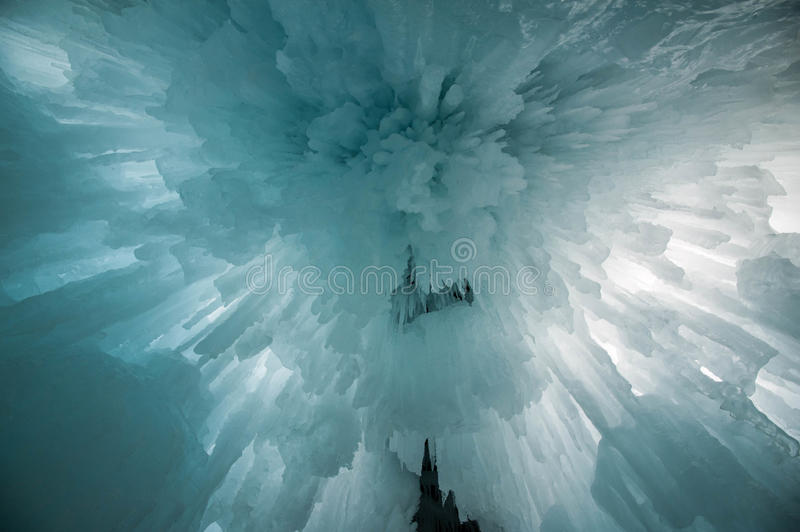 Dizzying Icicles royalty free stock photography
