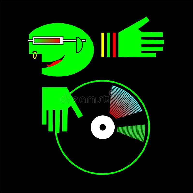 DJ具体化 库存例证