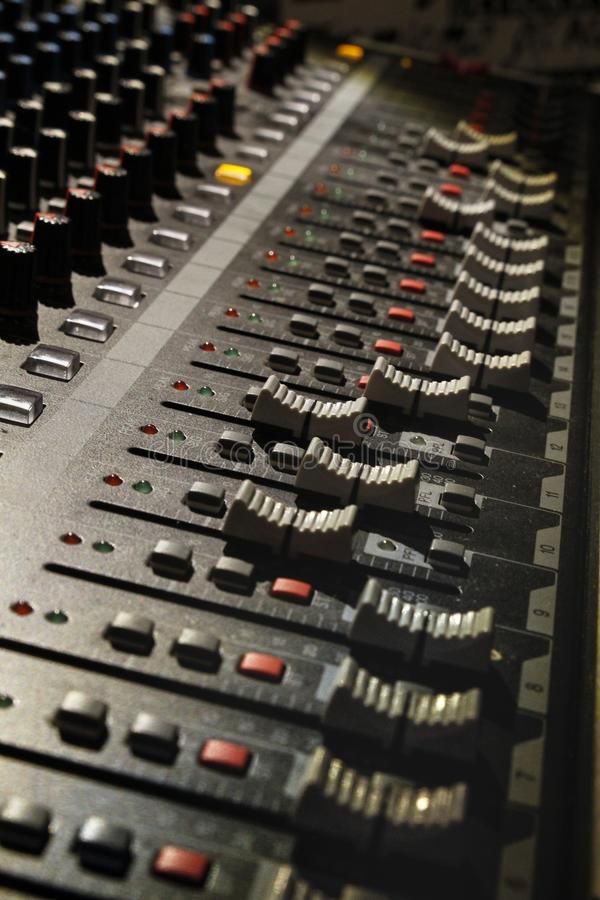 DJ搅拌器盘区 库存图片