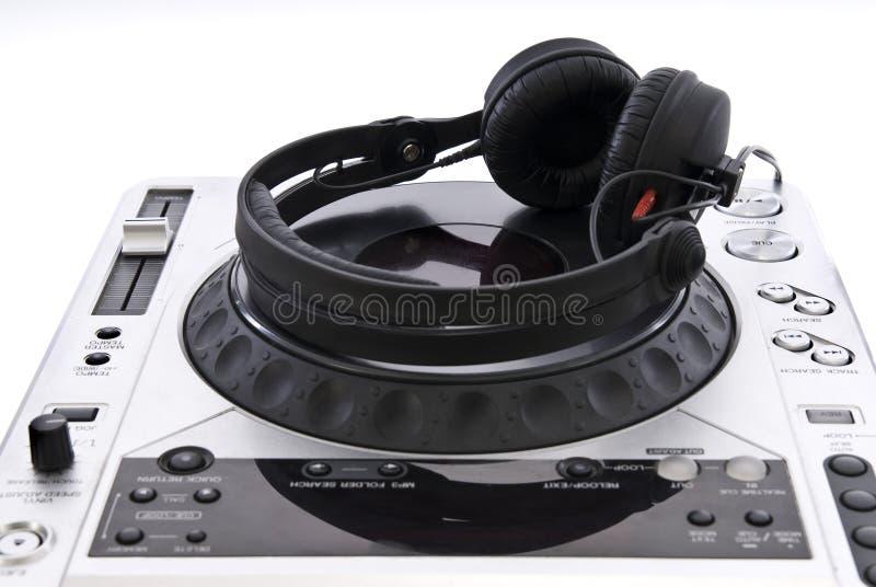 dj耳机搅拌机 免版税库存照片