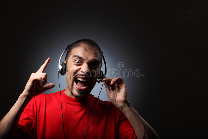 dj耳机 图库摄影