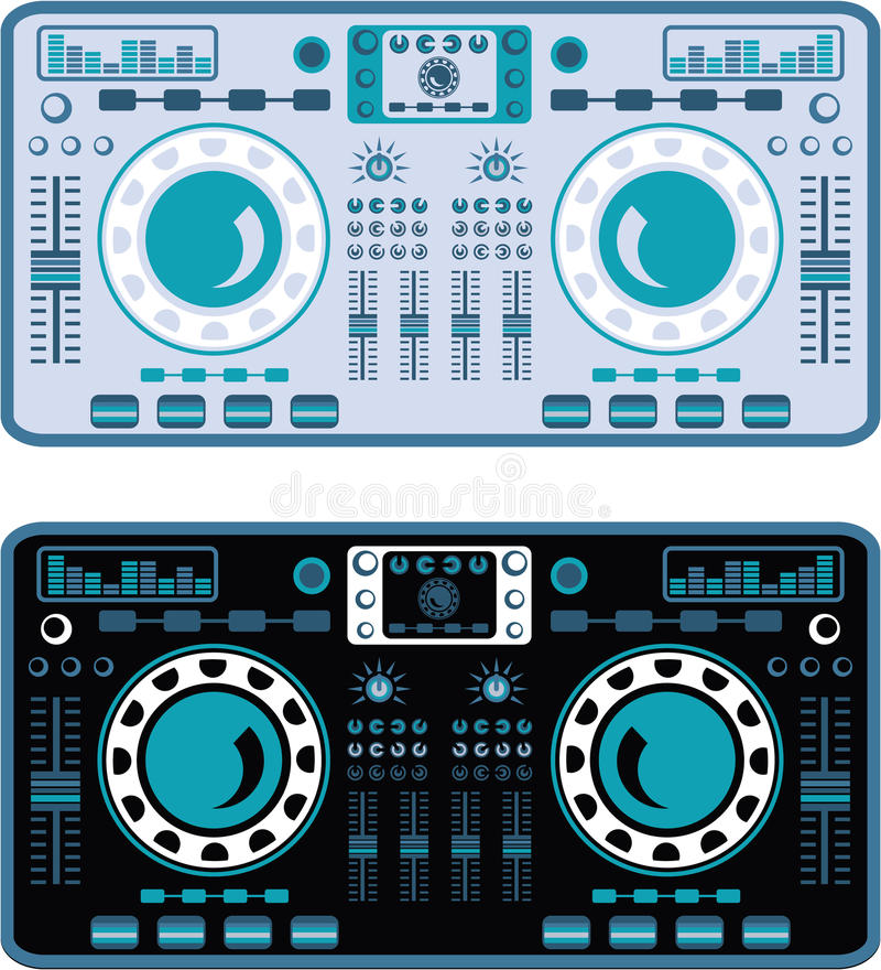 DJ转盘传染媒介 向量例证