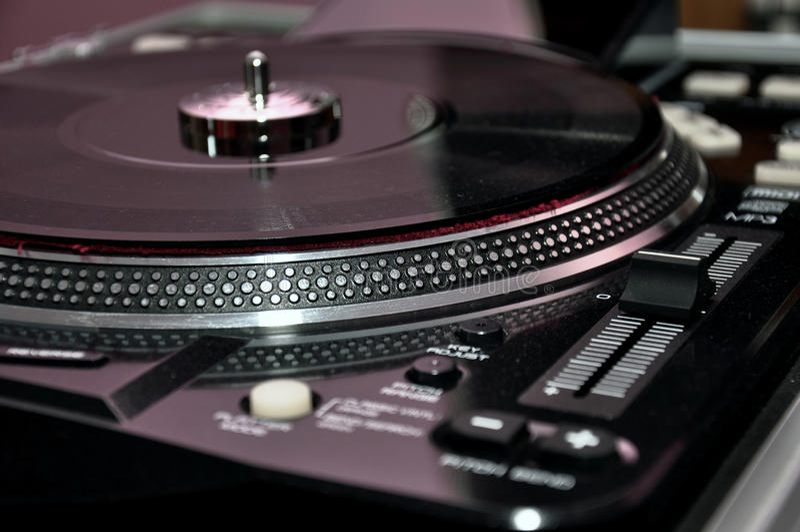 DJ转盘控制 库存图片