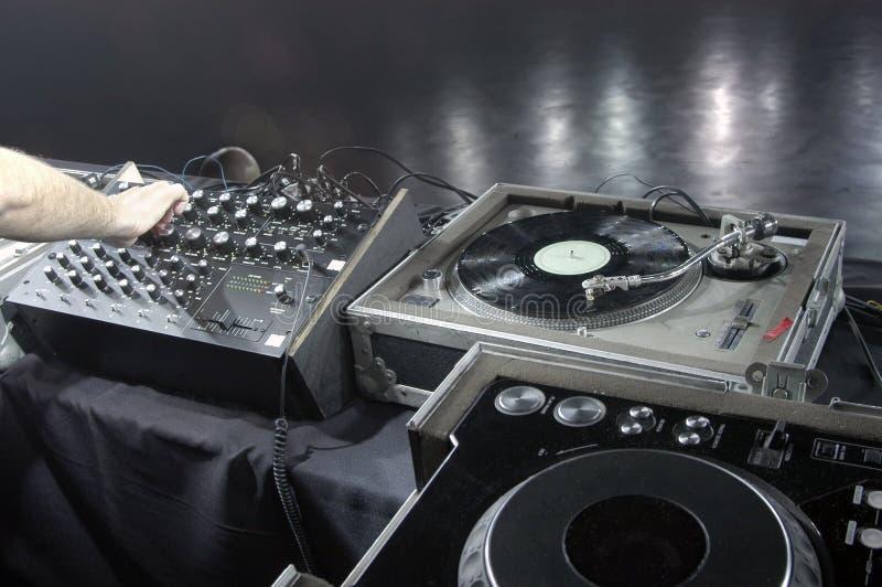 dj适应soundcheck 免版税库存照片