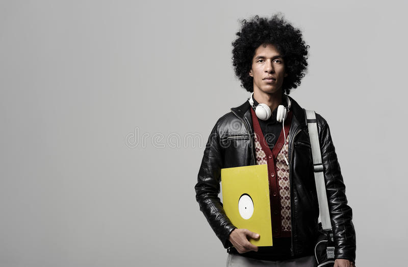 dj音乐纵向 免版税库存图片