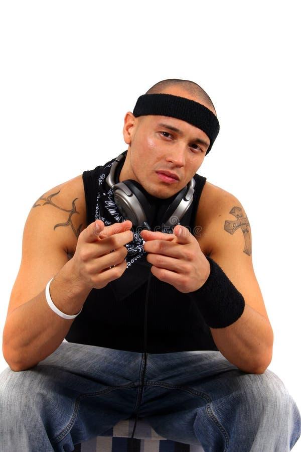 DJ που δείχνει σας στοκ φωτογραφίες