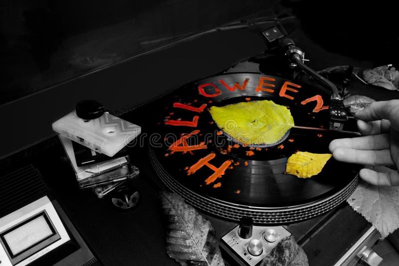 DJ на хеллоуине Party стоковая фотография