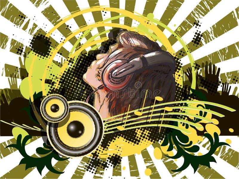 DJ ilustração do vetor
