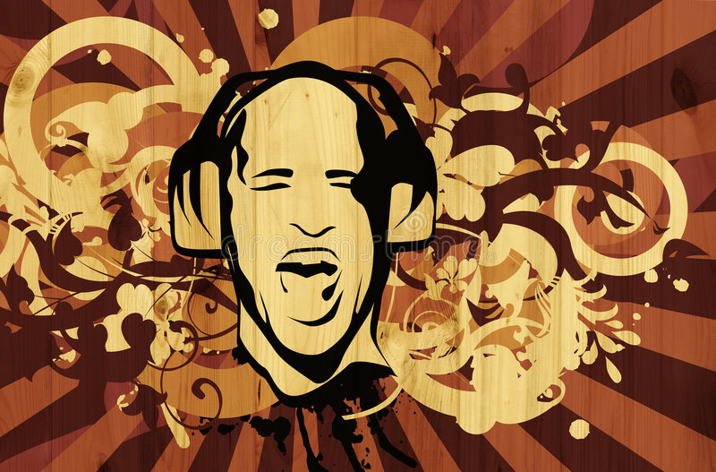 DJ διανυσματική απεικόνιση