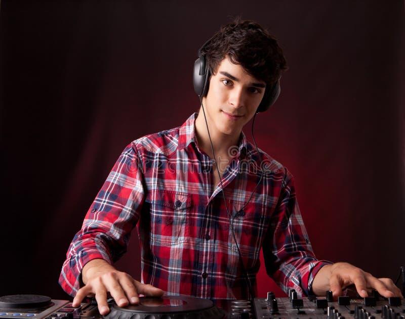 Download DJ stock image. Image of earphone, record, hands, portrait - 25213069