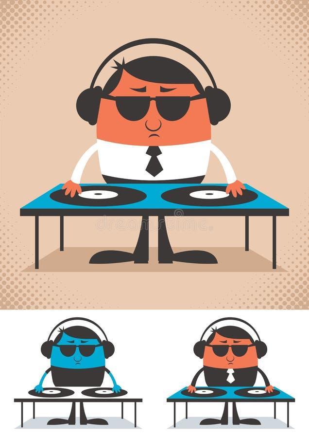 DJ ilustração stock