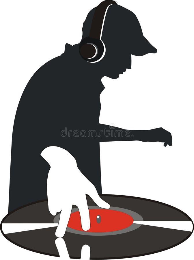 DJ royalty-vrije illustratie