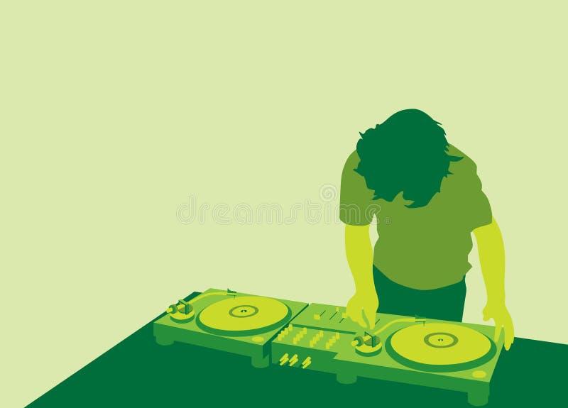 DJ. An illustration of a DJ