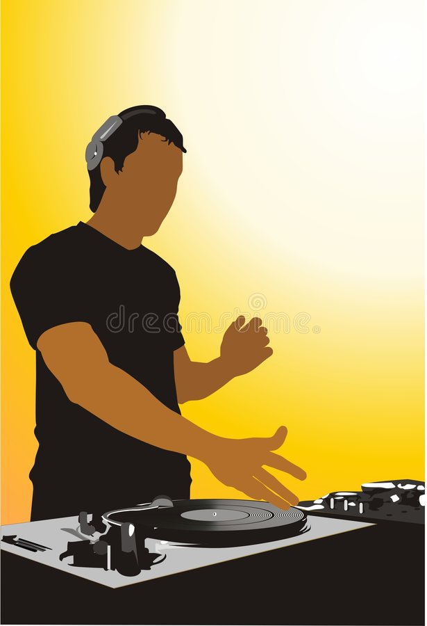 dj stock illustrationer