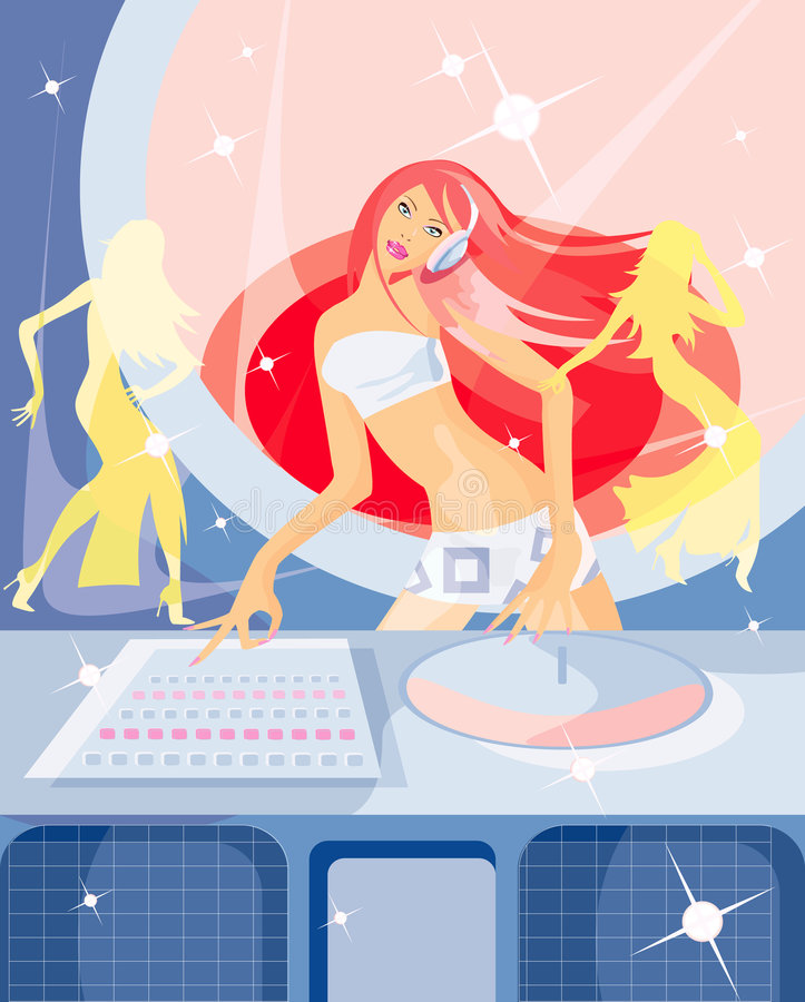 DJ stock illustratie