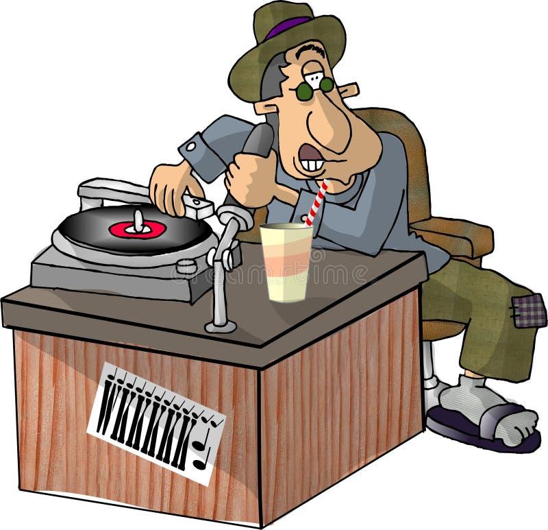DJ ilustração royalty free