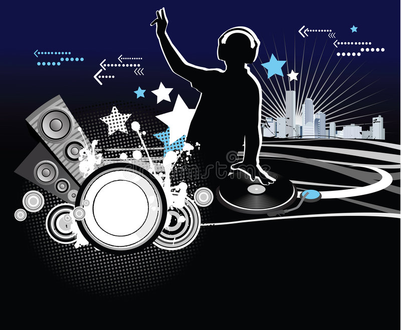 Dj. Music concept, vector illustration