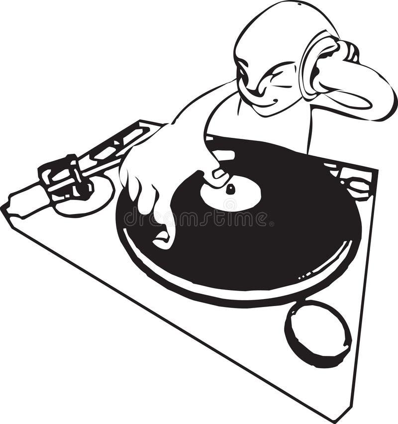DJ stock de ilustración