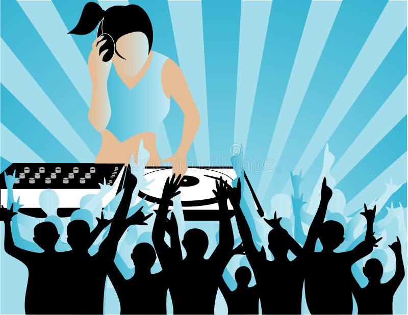Download DJ stock de ilustración. Ilustración de instrumento, mujer - 7275228