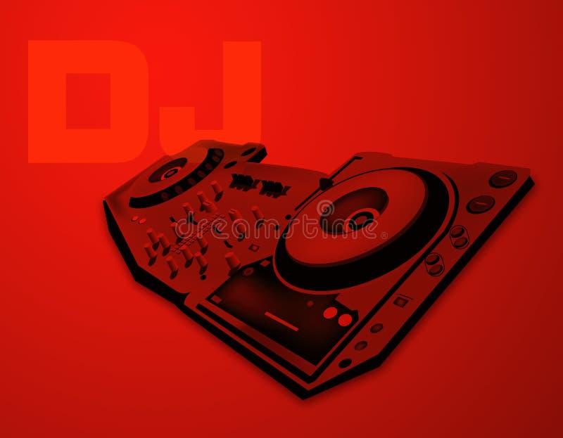 DJ stock illustration