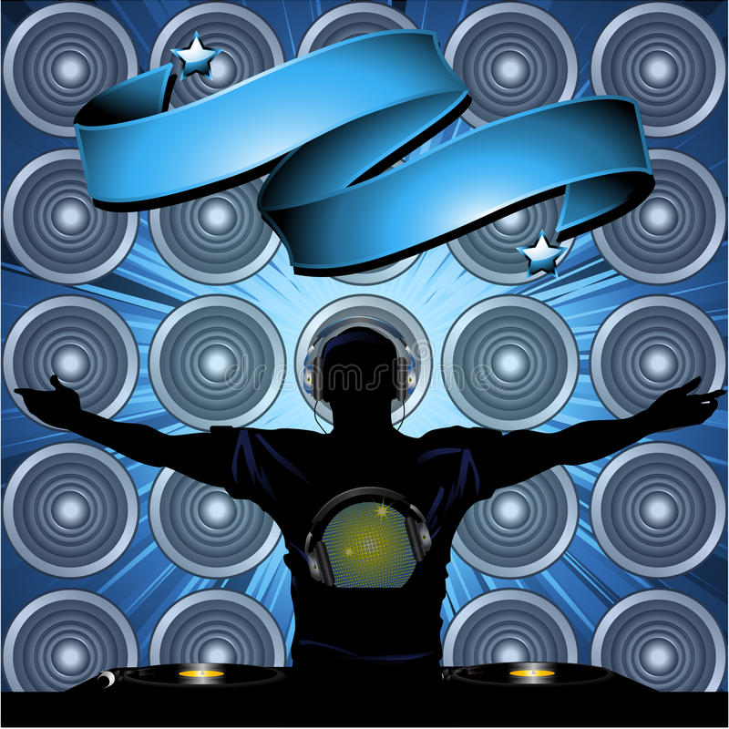 dj speakers clipart. download dj and banner on wall speakers background stock illustration - image: 49913782 dj clipart r
