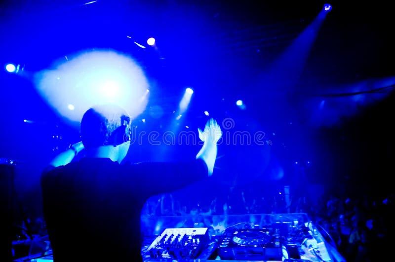 DJ bij het overleg royalty-vrije stock foto