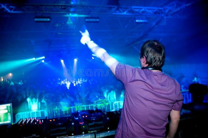 DJ bij het overleg royalty-vrije stock foto's