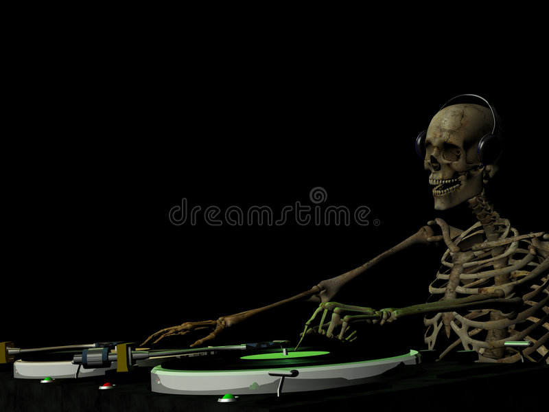 Download DJ Bones 1 stock illustration. Illustration of groove - 2650838