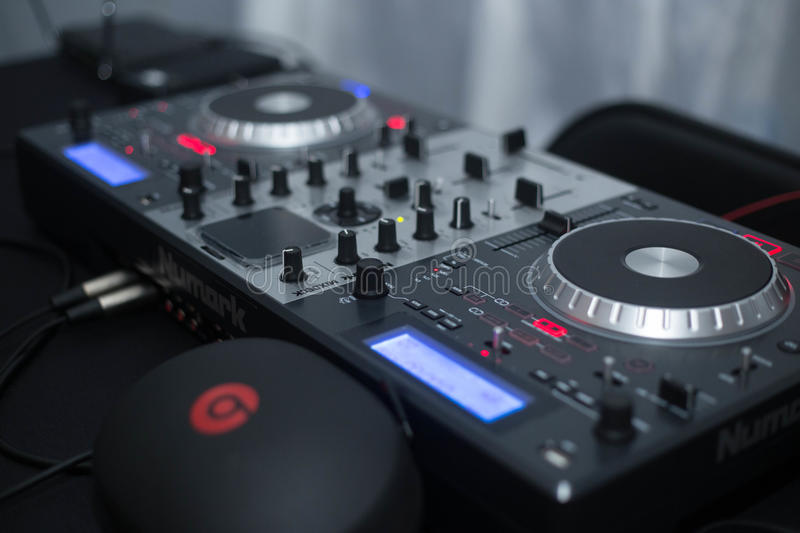 DJ Booth. Picture Of The DJ Booth stock photography