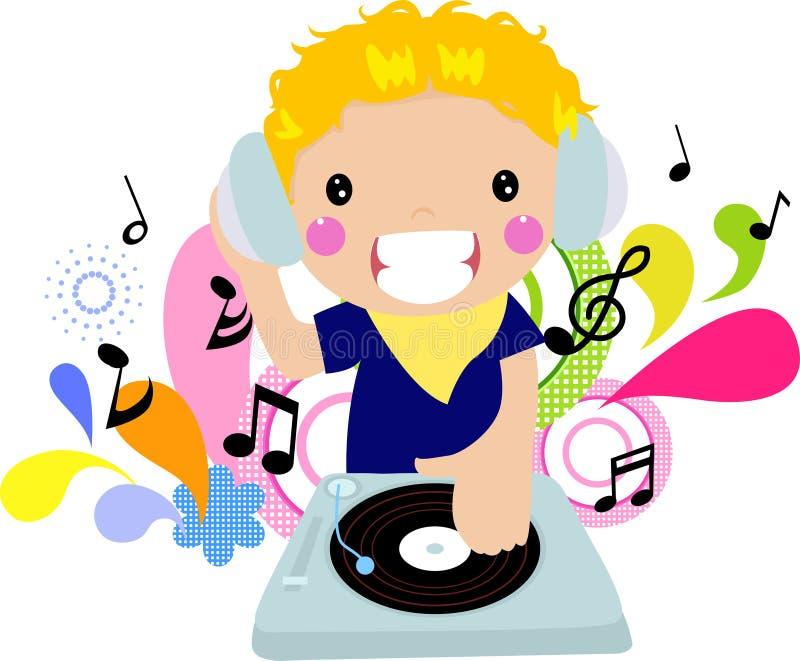 DJ boy vector illustration
