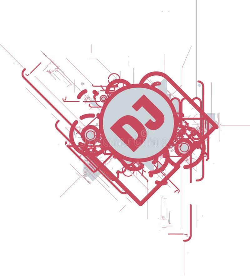 DJ CD CUBRE o aviador libre illustration