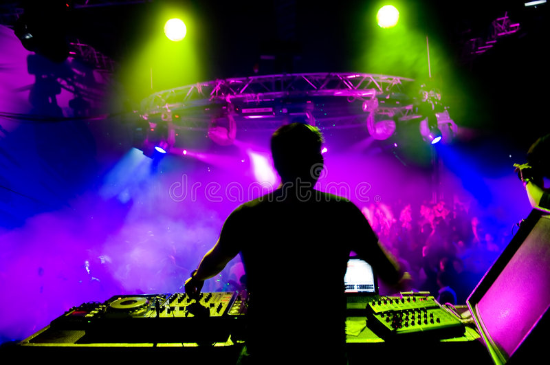 Dj at the concert royalty free stock photo